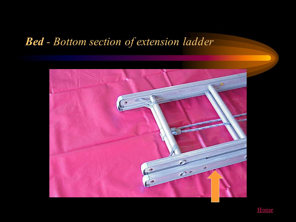 Home Bed - Bottom section of extension ladder