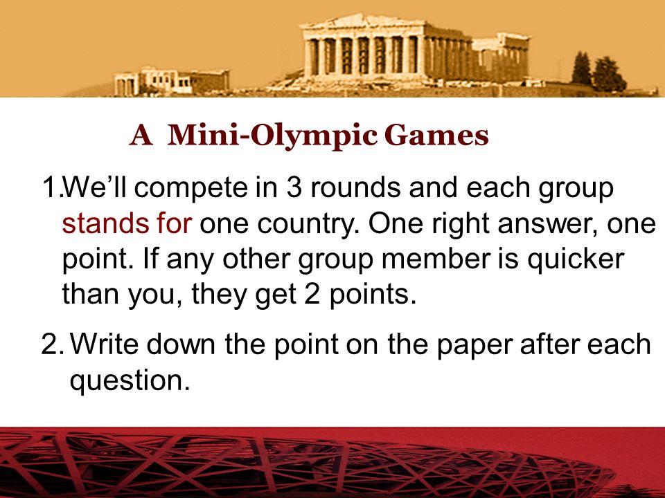 A Mini Olympic Games in our class Shi Jiazhuang 2010