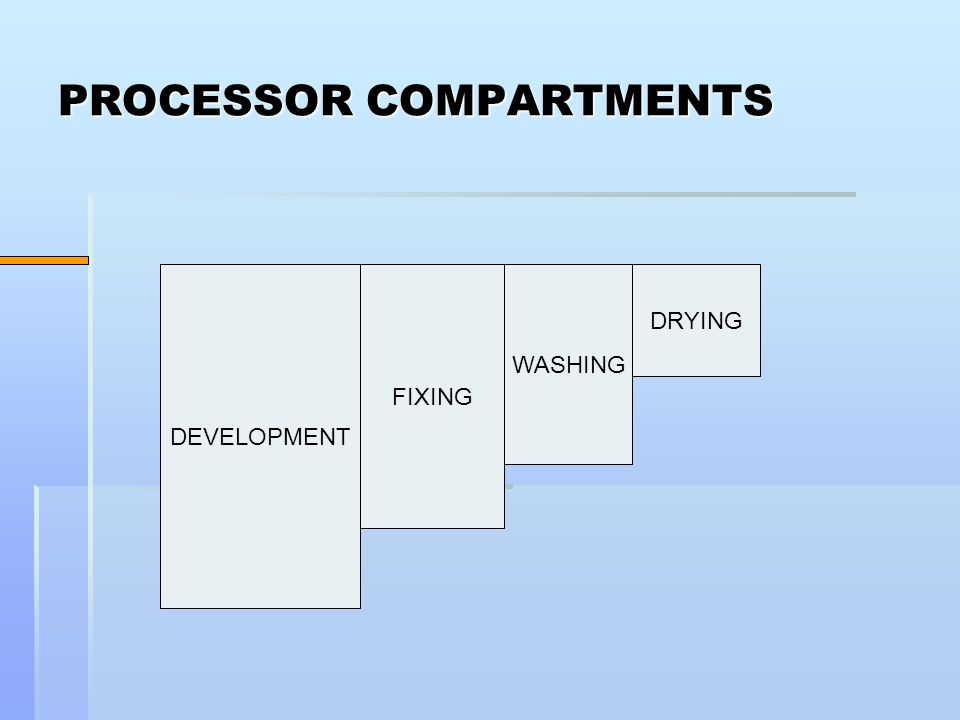 PROCESSOR COMPARTMENTS DEVELOPMENT FIXING WASHING DRYING