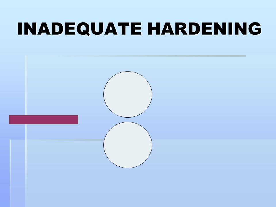 INADEQUATE HARDENING