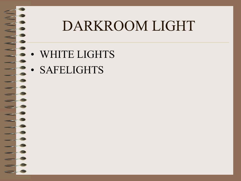 DARKROOM LIGHT WHITE LIGHTS SAFELIGHTS
