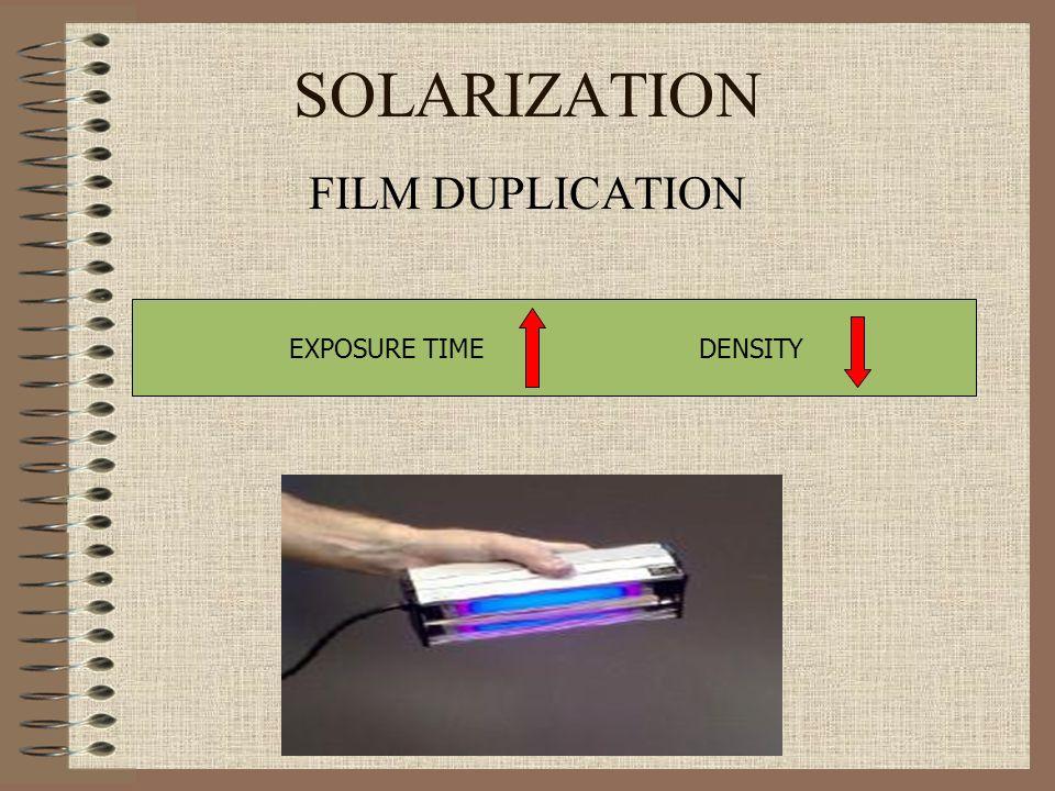 SOLARIZATION FILM DUPLICATION EXPOSURE TIME DENSITY
