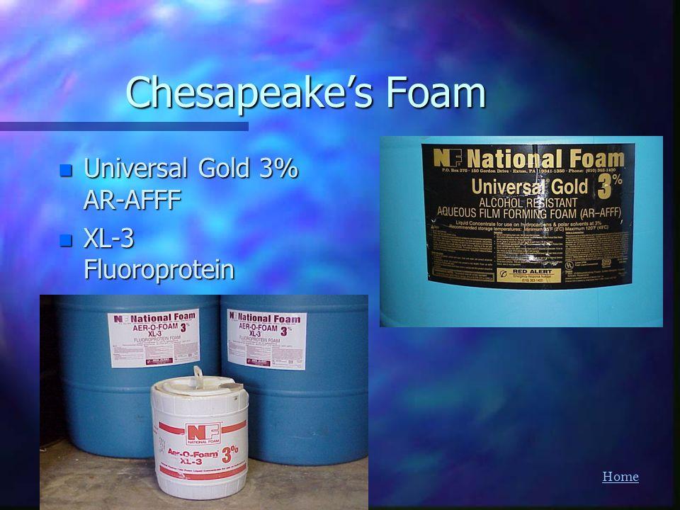 Home Chesapeakes Foam n Universal Gold 3% AR-AFFF n XL-3 Fluoroprotein