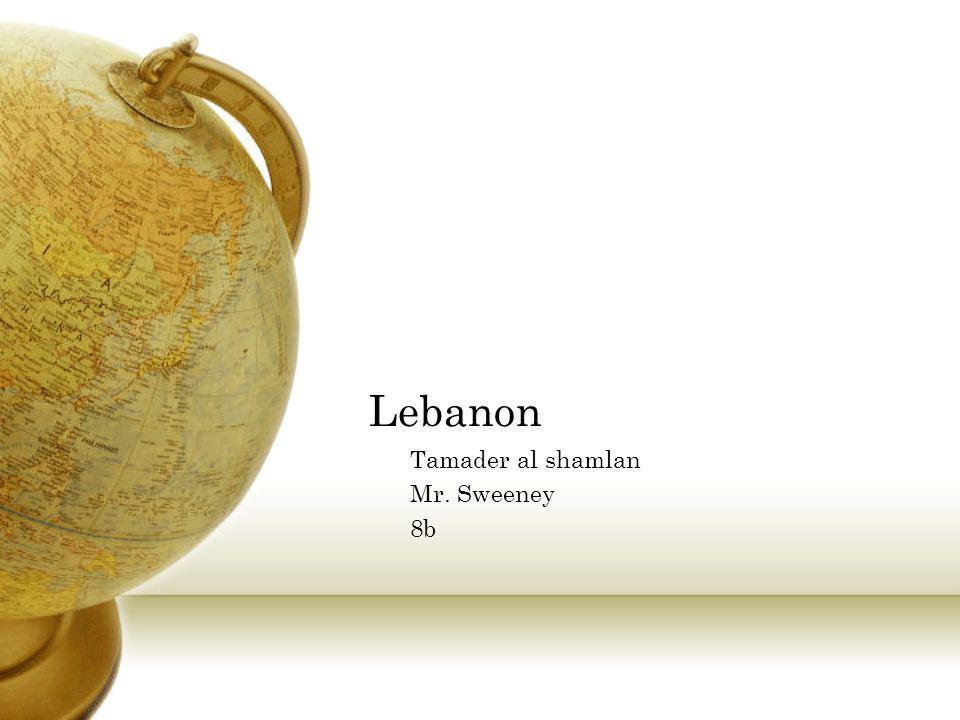 Lebanon Tamader al shamlan Mr. Sweeney 8b