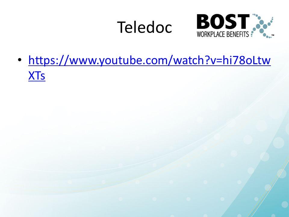Teledoc https://www.youtube.com/watch?v=hi78oLtw XTs https://www.youtube.com/watch?v=hi78oLtw XTs