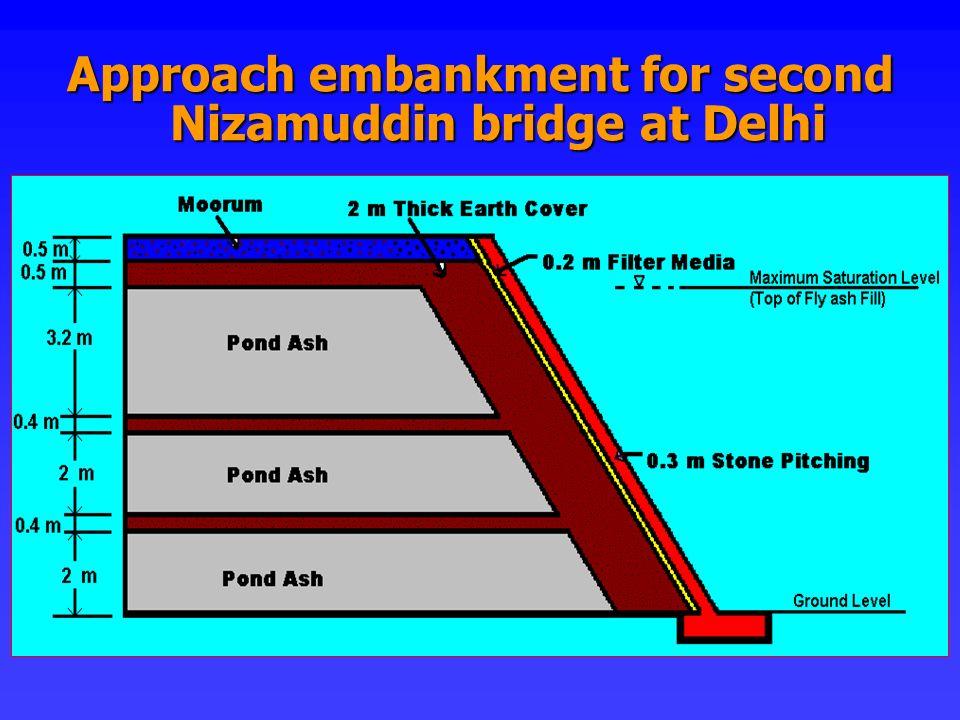 Approach embankment for second Nizamuddin bridge at Delhi