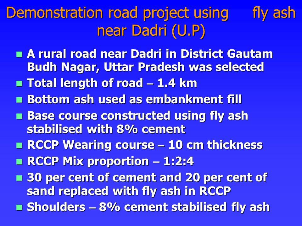 A rural road near Dadri in District Gautam Budh Nagar, Uttar Pradesh was selected A rural road near Dadri in District Gautam Budh Nagar, Uttar Pradesh