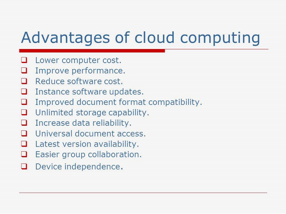 Comparison with other computing Grid computing Utility computing Automatic computing