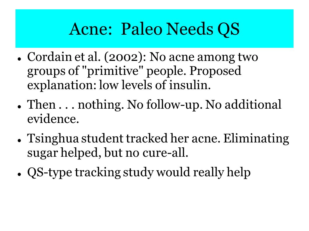 QS + Paleo = much more powerful than either alone