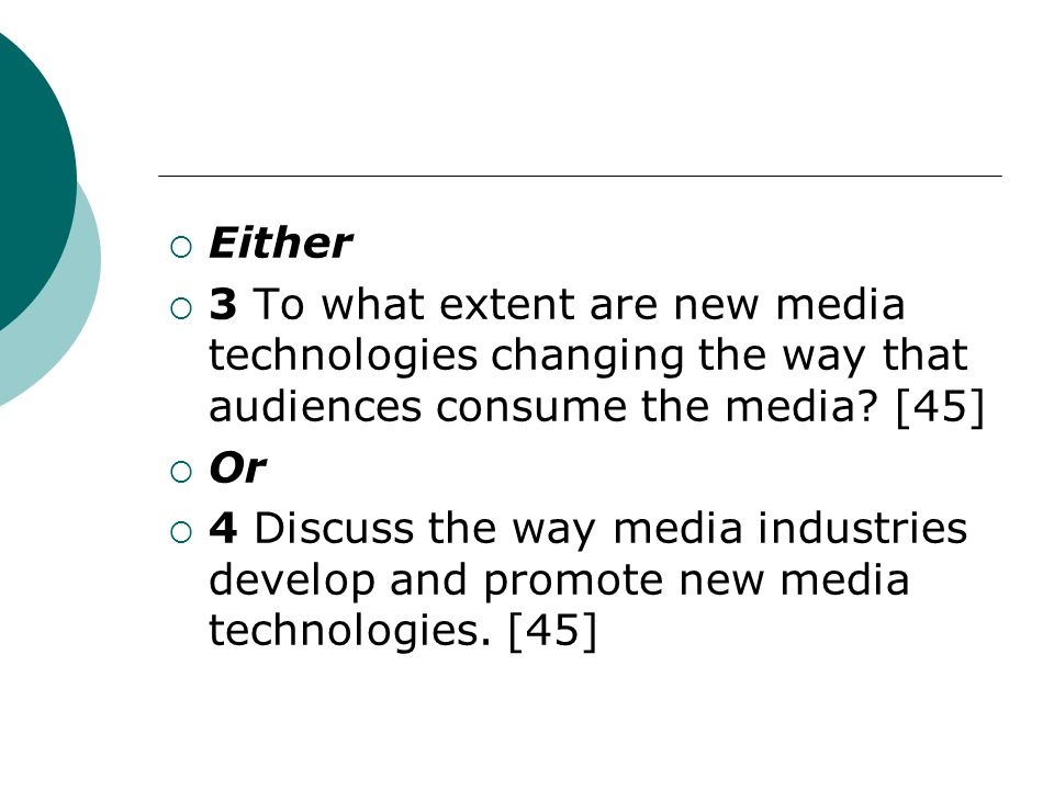 Section B: Media Ownership Read the passage carefully and answer all parts of questions 1 and 2 which follow.