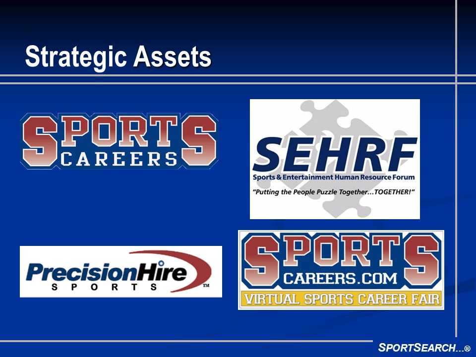S PORT S EARCH ® Assets Strategic Assets