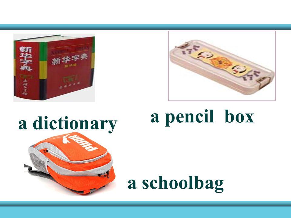 a pencil a pen a book an eraser a ruler