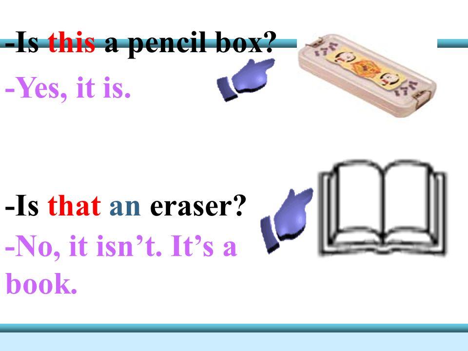 a pencil box a schoolbag a dictionary