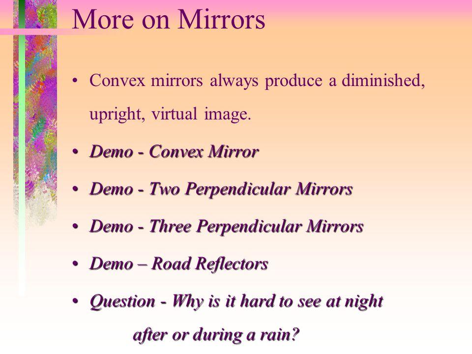 Demo - Coin MirageDemo - Coin Mirage Demo – Deep Concave MirrorDemo – Deep Concave Mirror Demo - Make-up Mirror ImagesDemo - Make-up Mirror Images Con