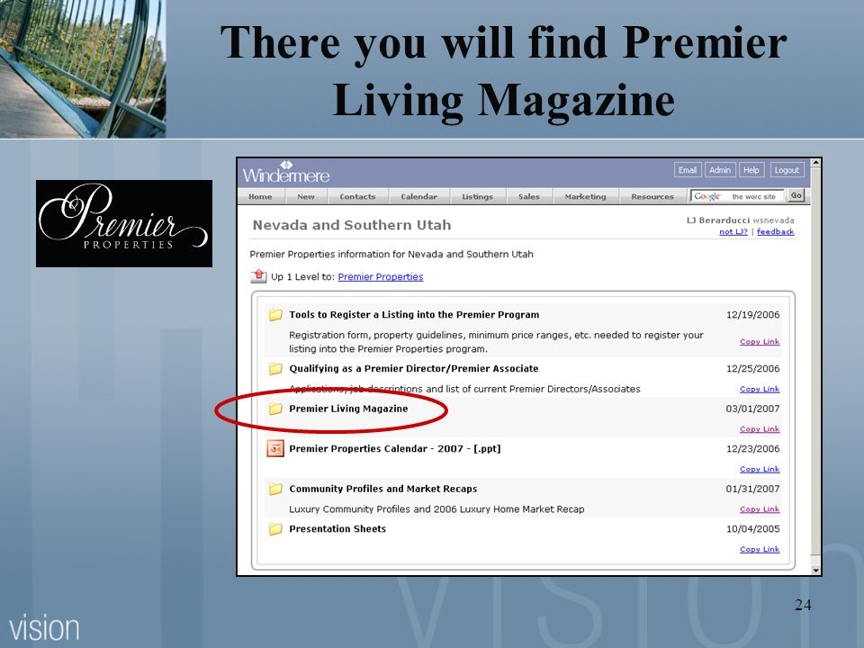 24 There you will find Premier Living Magazine