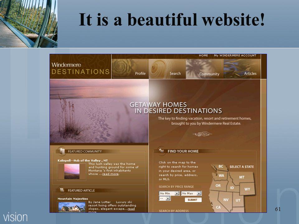 61 It is a beautiful website!