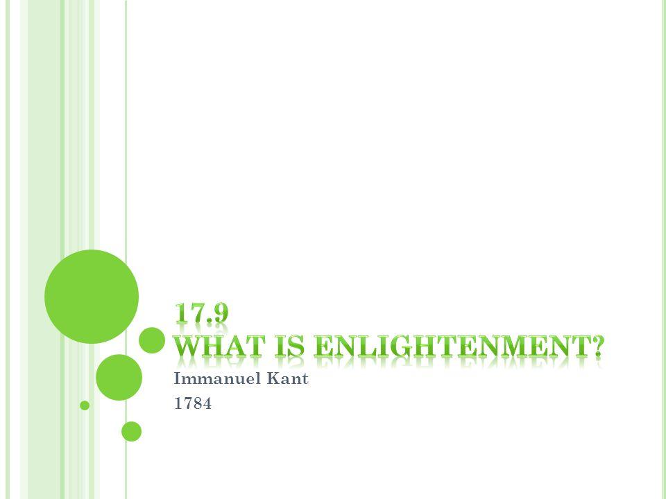 Immanuel Kant 1784