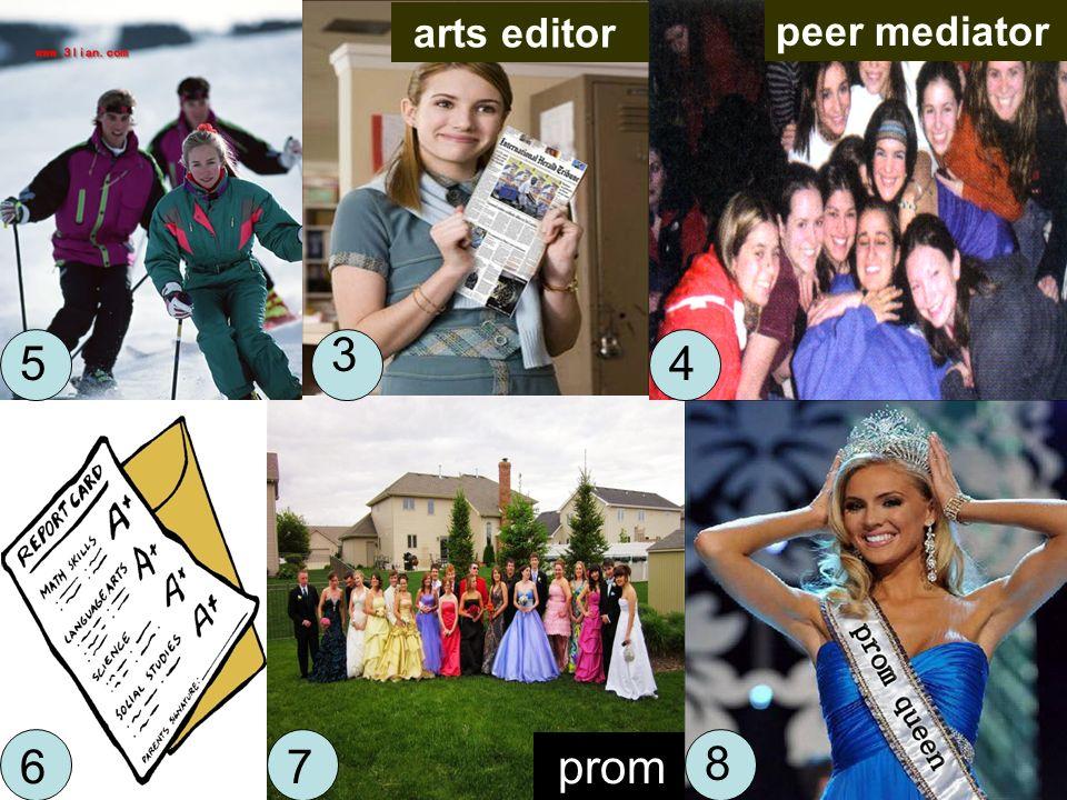 prom arts editor peer mediator 5 3 4 67 8
