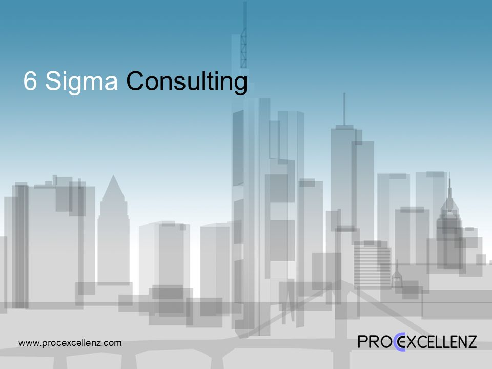 6 Sigma Consulting www.procexcellenz.com