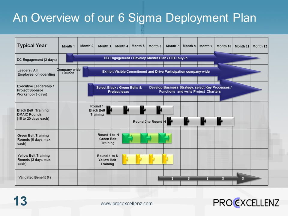 www.procexcellenz.com An Overview of our 6 Sigma Deployment Plan 13