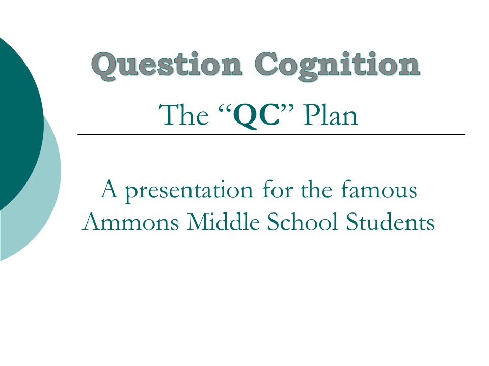The QC Plan A presentation for the famous Ammons Middle School Students