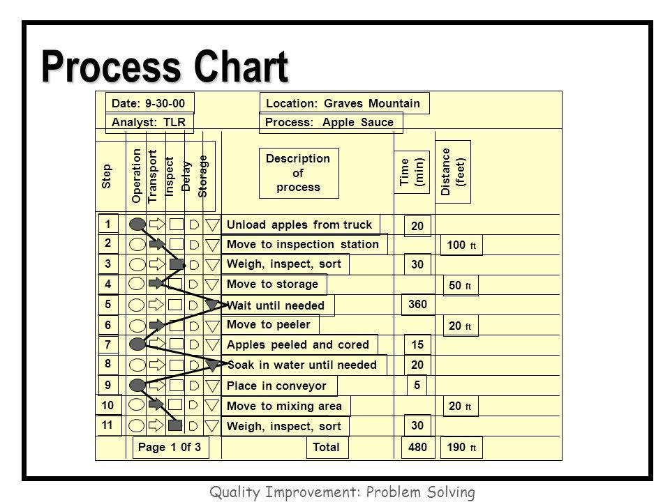 Quality Improvement: Problem Solving Process Chart