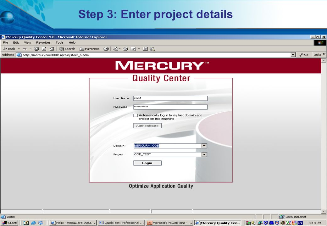 HITS Mercury COE. All rights reserved.Proprietary & Confidential Step 3: Enter project details