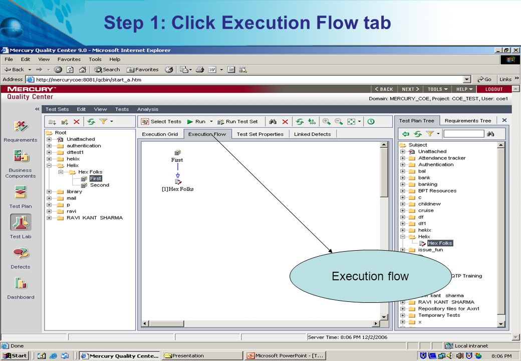 HITS Mercury COE. All rights reserved.Proprietary & Confidential Step 1: Click Execution Flow tab Execution flow