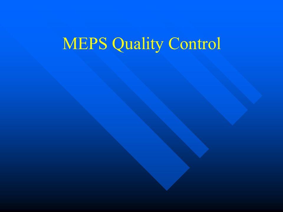 MEPS Quality Control