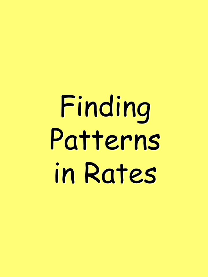 FindingPatterns in Rates