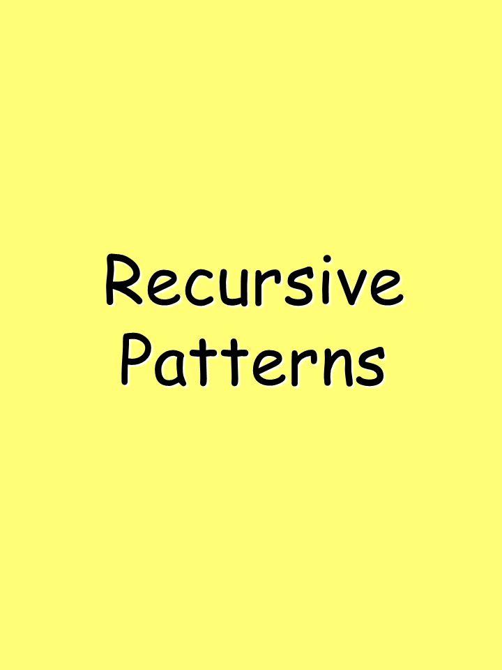 RecursivePatterns