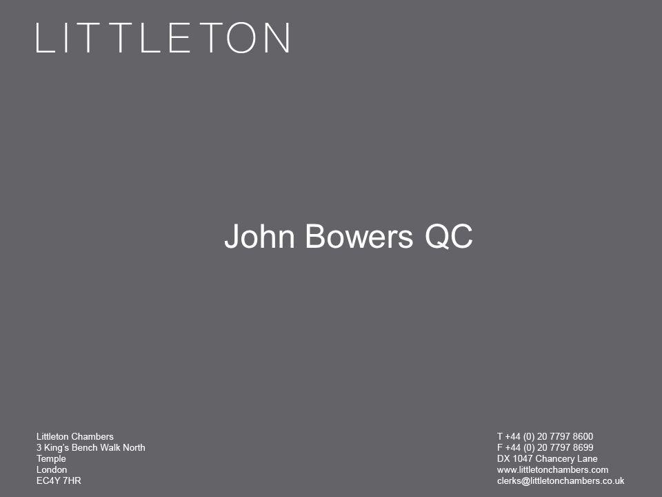 John Bowers QC
