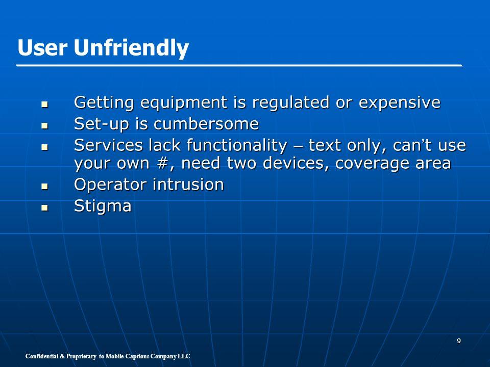 Confidential & Proprietary to Mobile Captions Company LLC 10 Sprint Relay Web Site