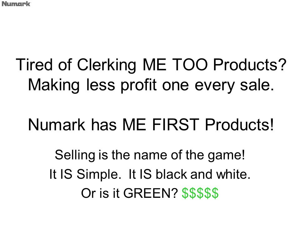 Tired of Clerking ME TOO Products. Making less profit one every sale.