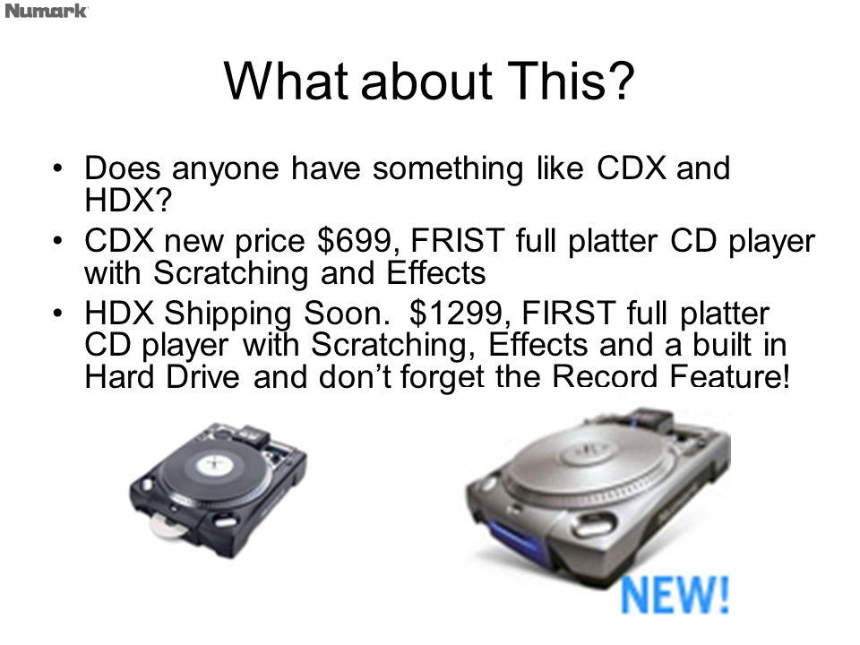 What about This. Does anyone have something like CDX and HDX.