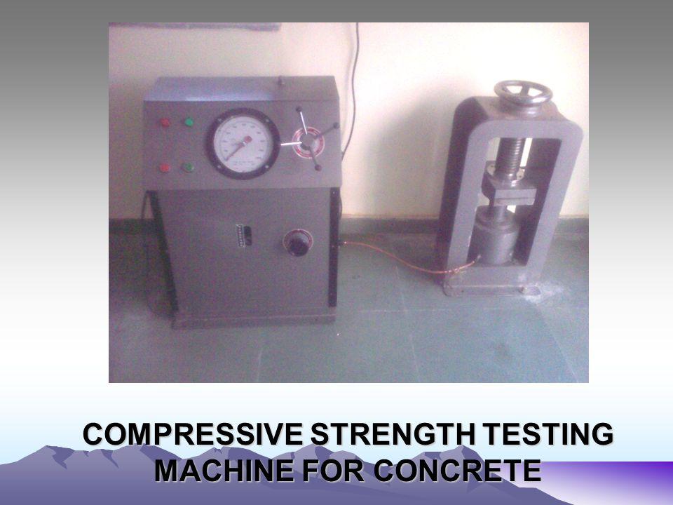 COMPRESSIVE STRENGTH TESTING MACHINE FOR CONCRETE