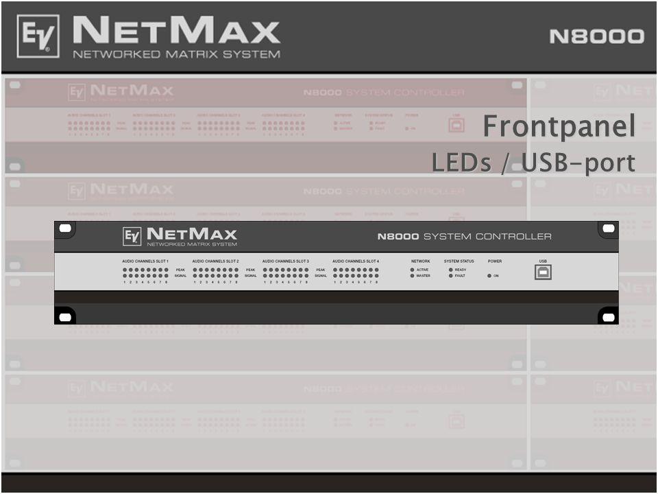 Frontpanel LEDs / USB-port