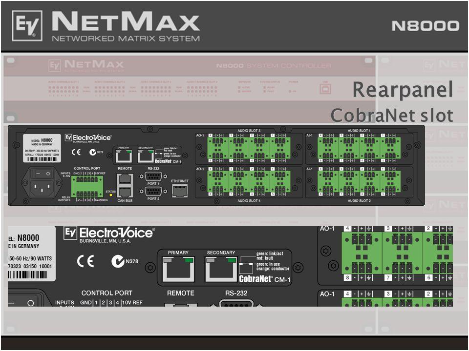 Rearpanel CobraNet slot