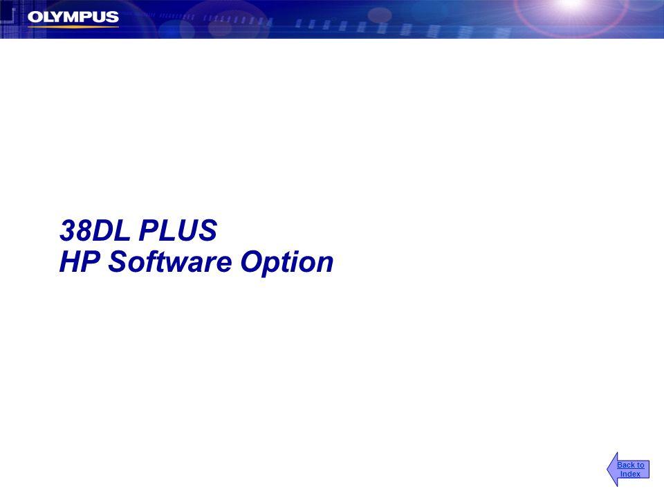 38DL PLUS HP Software Option Back to Index