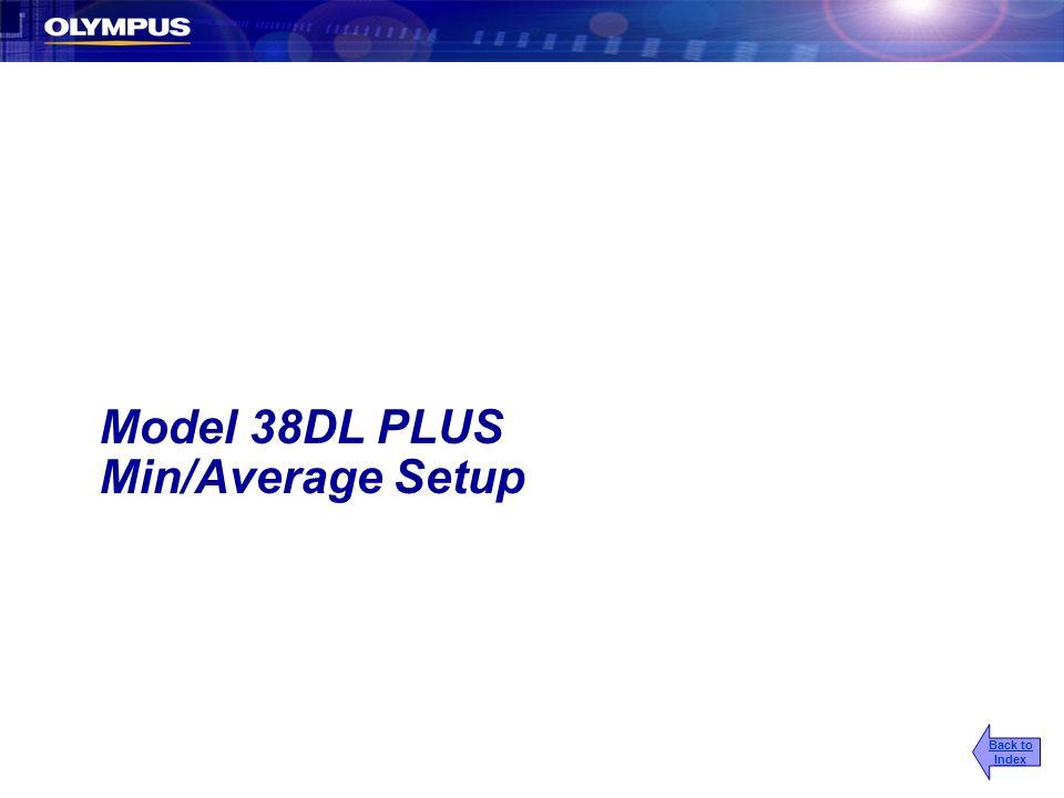 Model 38DL PLUS Min/Average Setup Back to Index