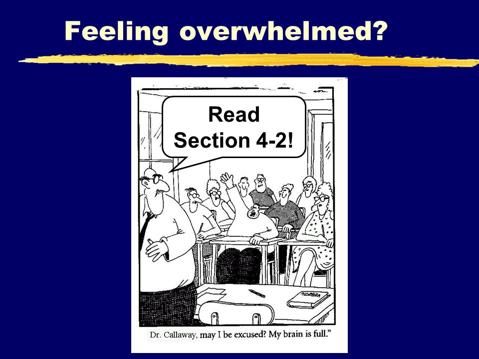 Feeling overwhelmed? Read Section 4-2!