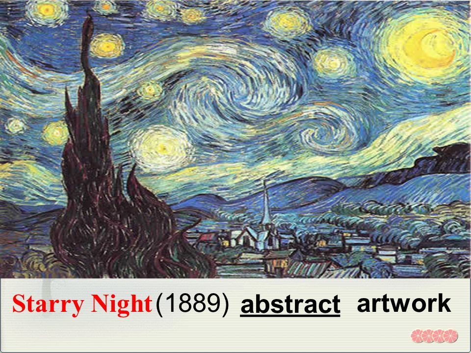 Starry Night _______ artwork(1889) abstract