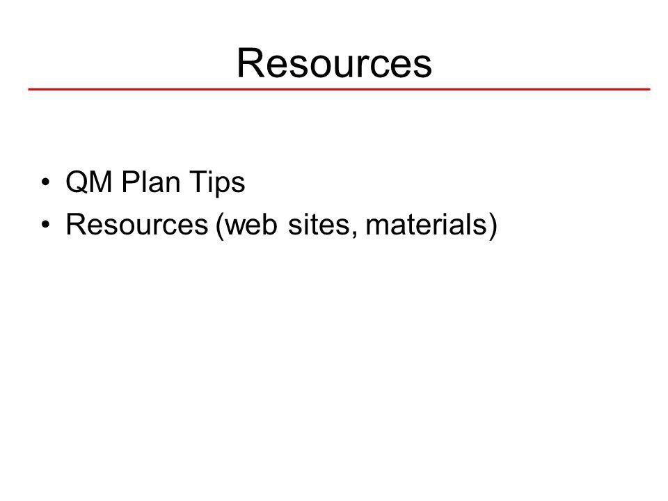 42National Quality Center (NQC) Tips on Writing a QM Plan