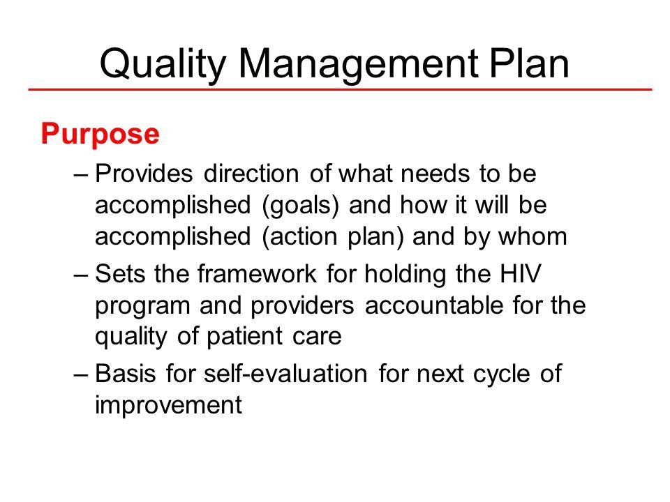 6National Quality Center (NQC) Grantee-wide Vision Strategic QM Plan (3-5 yrs) QM Plan Annual Goals Action Plan Implementation Annual Evaluation