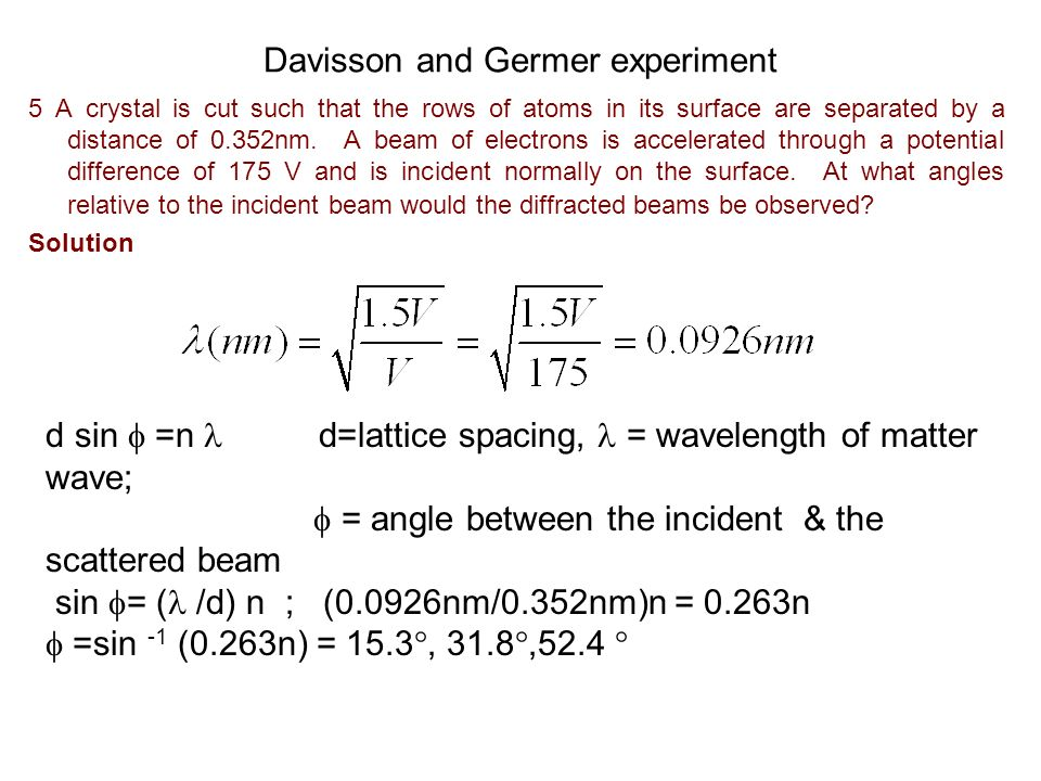 Matter waves 6 Show that the de Broglie wavelength of a particle of rest mass m 0 and kinetic energy K is given by