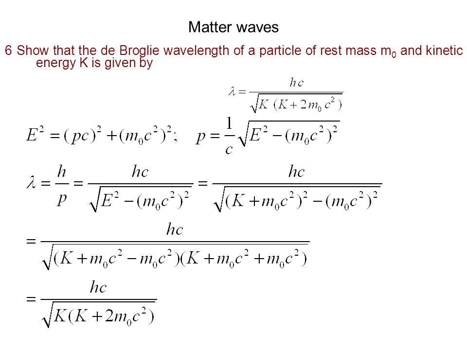 Wave packet 7 Certain ocean waves travel with a phase velocity Where, g is the acceleration due to gravity.