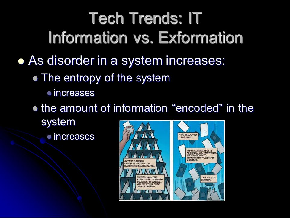 Technological Trends: IT Question: does more information = better care? Question: does more information = better care? Available evidence casts grave