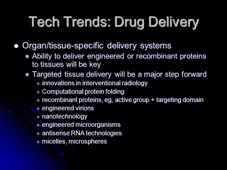 Tech Trends: Biomolecular Medicine Comprises several fields: Comprises several fields: Genomics, proteomics, computational protein folding, molecular