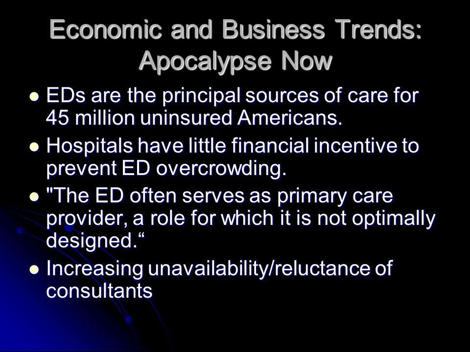 Economic and BusinessTrends Apocalypse Now