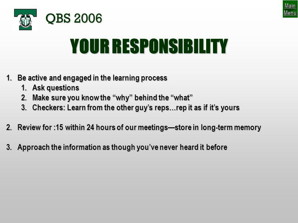 46-56 BRONCO Thought Process QBS 2006 SCENARIO #1 (b) V V V V V V V V VV V 1.